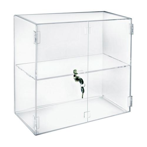 "Acrylic Lockbox Countertop Display Case 16.375"" wide"