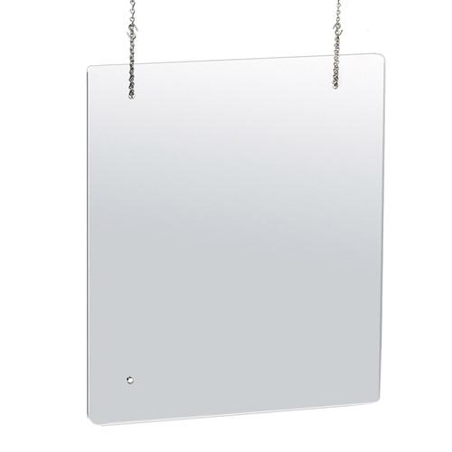 "30"" x 40"" Hanging Adjustable Cashier Shield,  Plexiglass Protective Panel, Splash Guard, 0.100"" thick Acrylic Protective Barrier -Vertical/Horizontal"