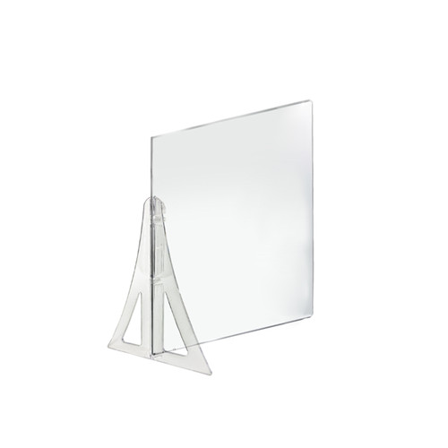 "18"" x 24"" Single Leg Partition PLEXIGLASS Shield"