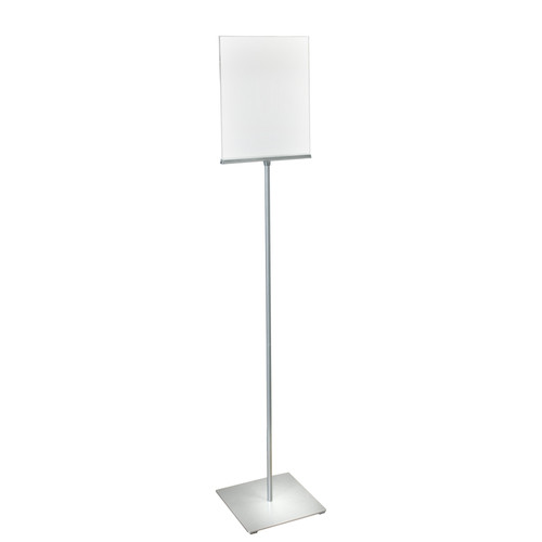 """11""""W x 14""""H Pedestal Two-Sided Sign Holder Stand on Square Metal Base"""