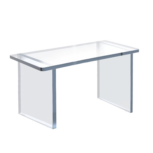 """Clear Acrylic 22""""W x 10""""D x 12""""H 1/2"""" Thick Deluxe Riser w/ Bumpers"""