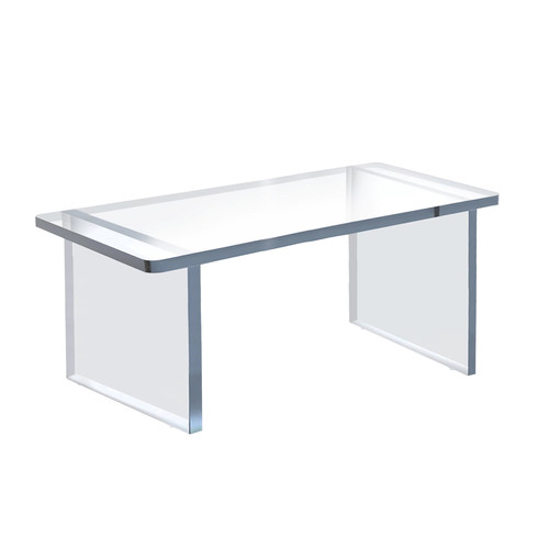 """Clear Acrylic 22""""W x 10""""D x 9""""H 1/2"""" Thick Deluxe Riser w/ Bumpers"""