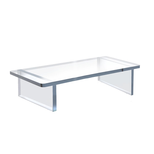 """Clear Acrylic 22""""W x 10""""D x 6""""H 1/2"""" Thick Deluxe Riser w/ Bumpers"""