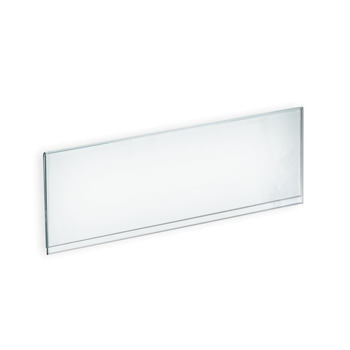 "CLOSEOUT: Clear Acrylic Header Sign Holder- Insert Your Own Graphic 18""W x 6""H"