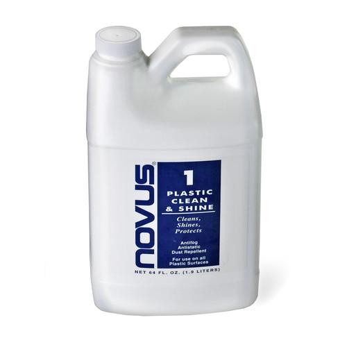 Blue Label. 64oz. Plastic Clean & Shine
