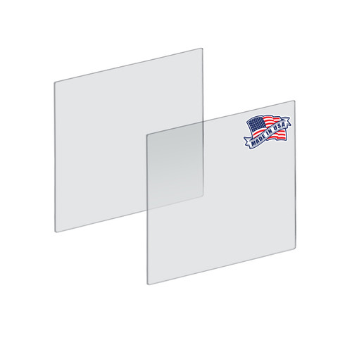 "Plexiglass Acrylic Sheets Cut to Size, Clear Plastic Panels, Size: 20"" x 20"" x 3/16"" Thick with Square Corners"
