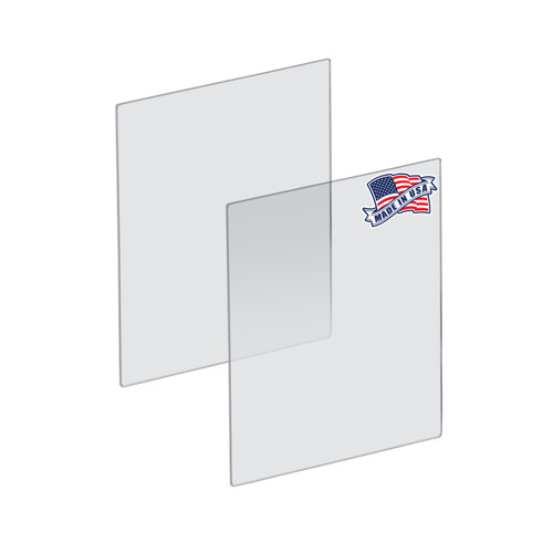 "Plexiglass Acrylic Sheets Cut to Size, Clear Plastic Panels, Size: 18"" x 24"" x 3/16"" Thick with Square Corners"