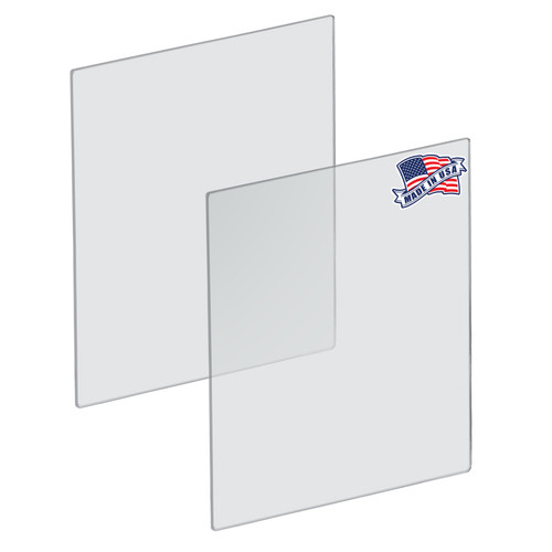 "Plexiglass Acrylic Sheets Cut to Size, Clear Plastic Panels, Size: 23.5"" x 31.5"" x 3/16"" Thick with Square Corners"