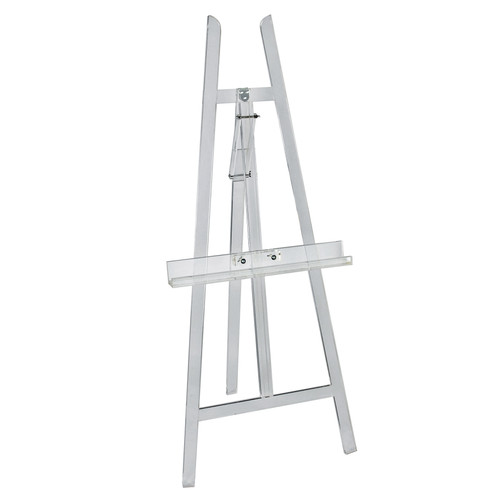 Clear Acrylic Adjustable Easel Stand for Floor with Folding Design