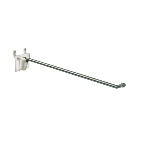"""2-Piece 10"""" Metal Wire Hook Plastic Attached Back: 0.187"""" Dia."""