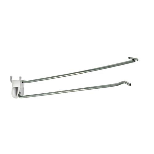 "10"" Metal Wire Flip Scan Plastic Quick Back Hook: 0.212"" Dia."