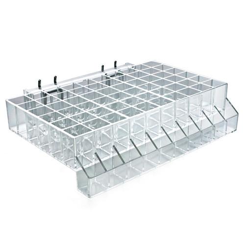 "60-Compartment Tray w/ Tester Tray - square slot .875"""