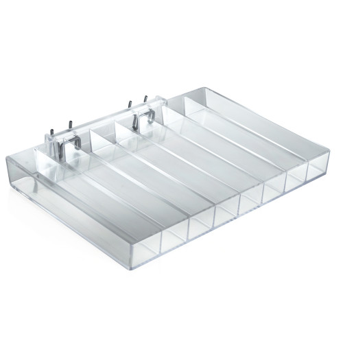 Eight Compartment Tray for Pegboard or Slatwall