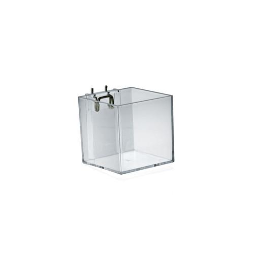 """4"""" Cube Bin for Pegboard or Slatwall"""