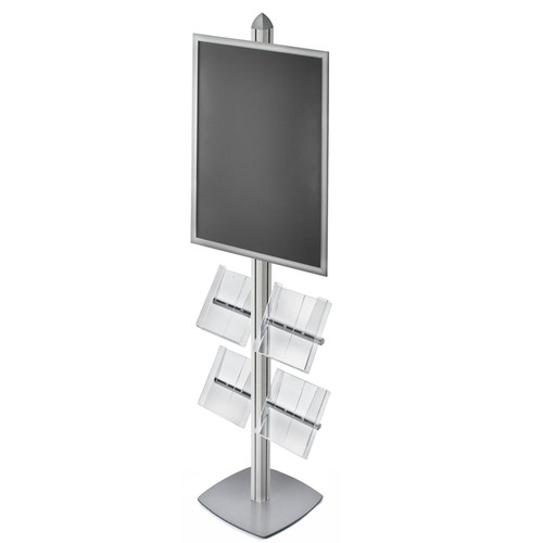 "Sky Tower Display Kit with 22""W x 28""H Snap Frame and Four Acrylic Brochure Side Pockets"