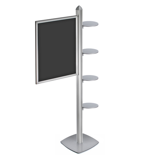 "Sky Tower Display Kit with 22""W x 28""H Slide-in Frame and Four Round Shelves"