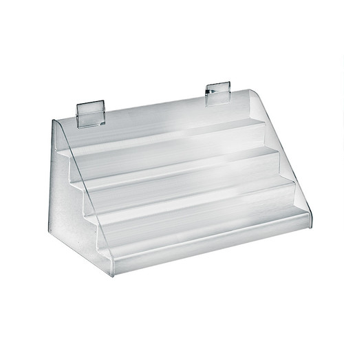 """Four-Tier Counter Step Display: 16""""W x 8""""D x 8""""H"""