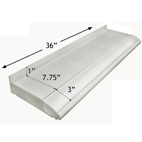 """CLOSEOUT: Adjustable Cosmetic Tray (white) 36"""" L for Pegboard and Slatwall"""