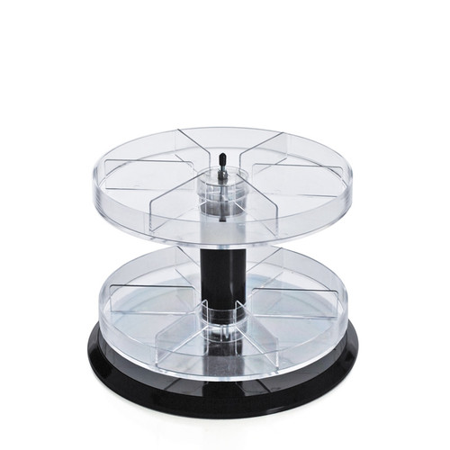 """Two Tier Revolving Display 8""""H x 11""""Dia. - 12 Sections"""