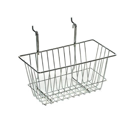 "6.25""H Chrome Wire Basket"