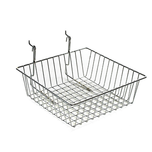"4.25""H Chrome Wire Basket"