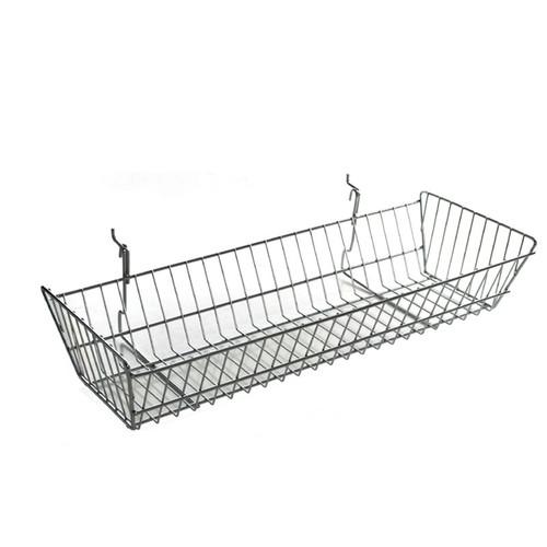 "24.25"" Wide Slanted Chrome Wire Basket"