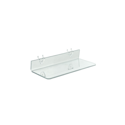 "13.5""W x 4""D Clear Acrylic Shelf for Pegboard and Slatwall"
