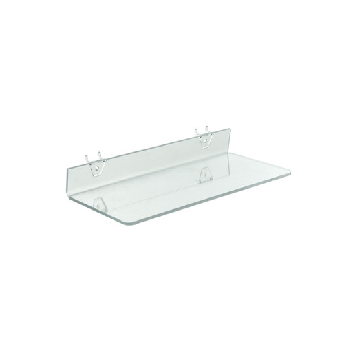 "16""W x 6""D Clear Acrylic Shelf for Pegboard and Slatwall"