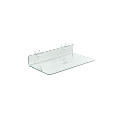 "13.5""W x 6""D Clear Acrylic Shelf for Pegboard or Slatwall"