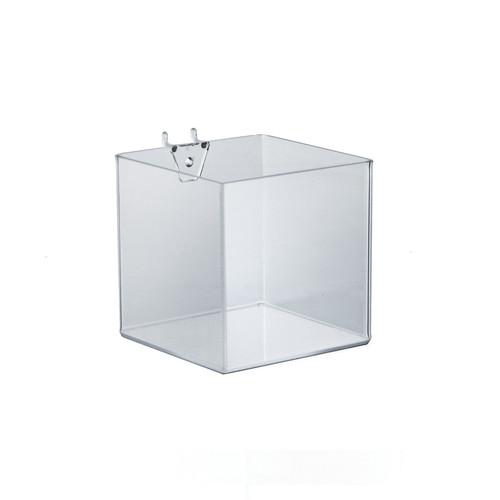"""5"""" Cube Bin for Pegboard or Slatwall"""