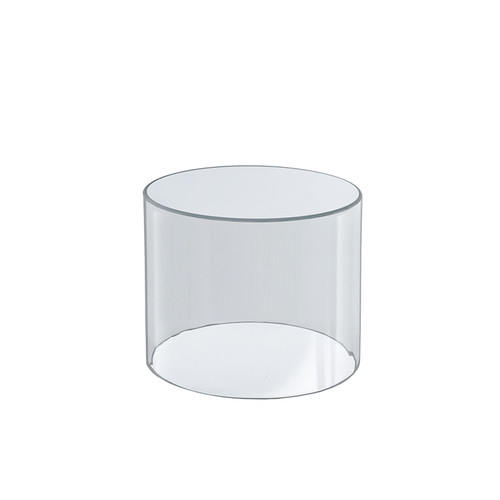 """Clear Acrylic Cylinder Display, Plastic Round Container and Riser, 6""""W x 6""""H"""