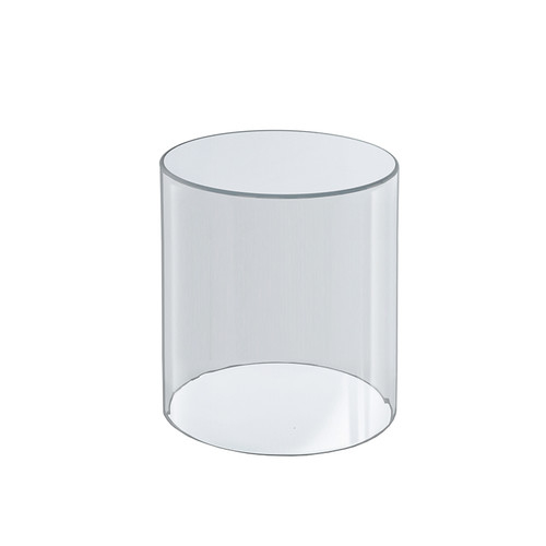 """Clear Acrylic Cylinder Display, Plastic Round Container and Riser, 6""""W x 8""""H"""