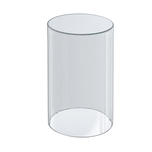 """Clear Acrylic Cylinder Display, Plastic Round Container and Riser, 6""""W x 10""""H"""