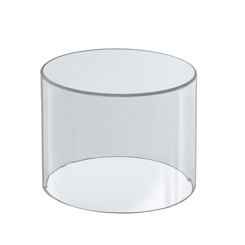 """Clear Acrylic Cylinder Display, Plastic Round Container and Riser, 8""""W x 8""""H"""
