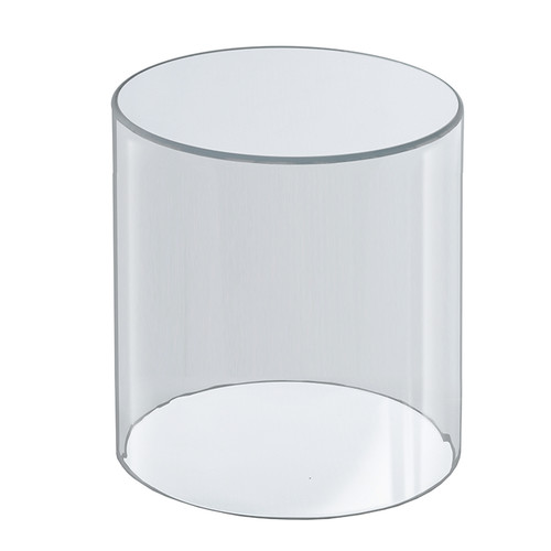 """Clear Acrylic Cylinder Display, Plastic Round Container and Riser, 8""""W x 10""""H"""