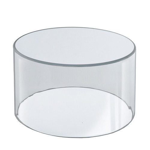 """Clear Acrylic Cylinder Display, Plastic Round Container and Riser, 10""""W x 8""""H"""