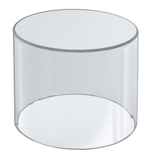 """Clear Acrylic Cylinder Display, Plastic Round Container and Riser, 10""""W x 10""""H"""