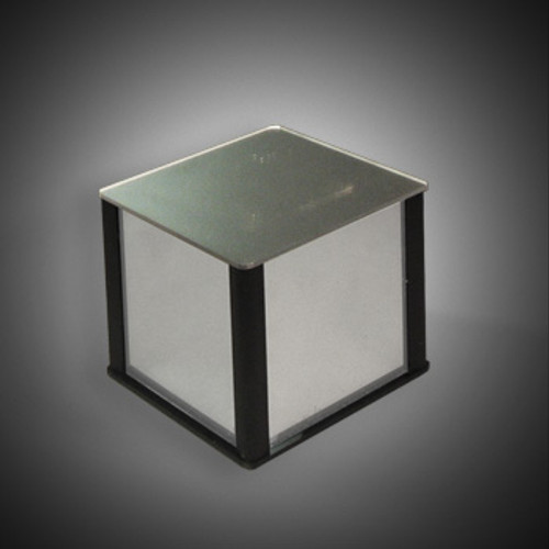"""CLOSEOUT: Mirror Acrylic Cube Pedestal 9""""w x 9""""d x 9""""high"""