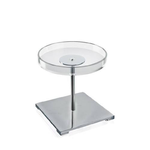 CLOSEOUT: Acrylic & Chrome Counter Disc Display