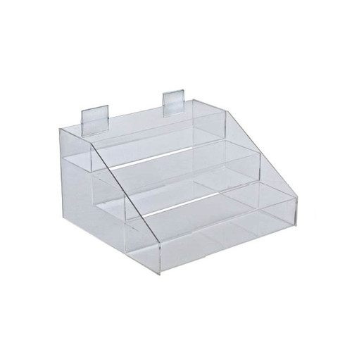 "Three-Tier, 3 Compartment Counter Step Display: 12""W x 11.75""D x 7""H"
