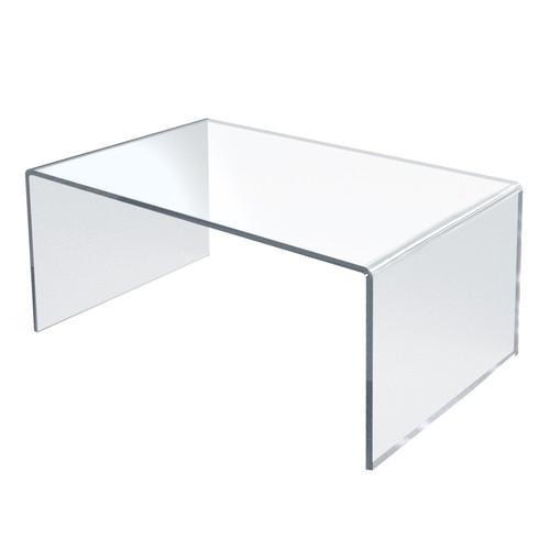 "Clear Acrylic Riser Pedestal Display 12""W x 7.75""D x 6""H"