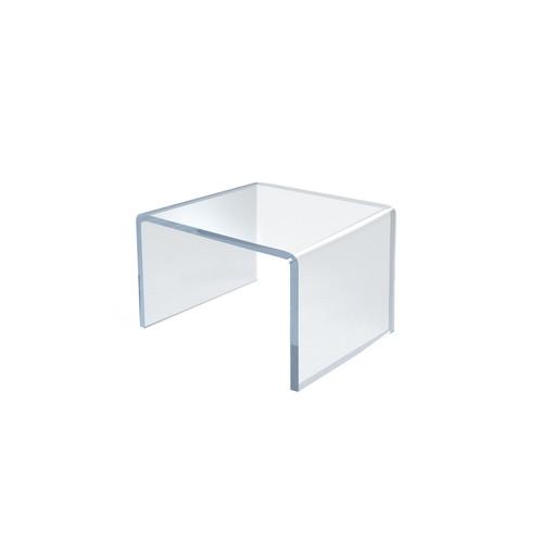 "Clear Acrylic Riser Pedestal Display 2.5""W x 2.5""D x 2.5""H"