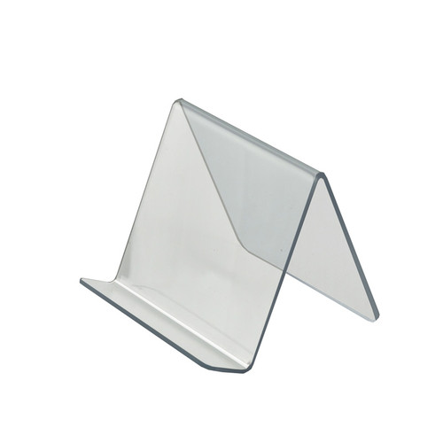 """5""""W x  5""""D x 4.125""""H  Easel Display. Front Lip: 1.25""""H"""