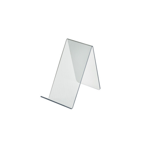 """3.5""""W x  7.5""""D x 6.5""""H Easel Display. Front Lip: 1.75""""H"""