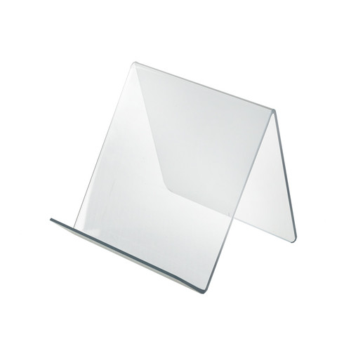 """7""""W x  7.5""""D x 6.5""""H Easel Display. Front Lip: 1.75""""H"""