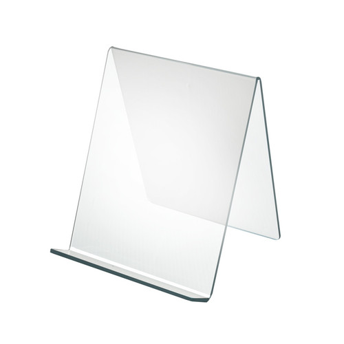 """8""""W x  8""""D x 8.75""""H Easel Display. Front Lip: 1.75""""H"""