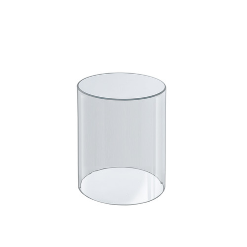 """Clear Acrylic Cylinder Display, Plastic Round Container and Riser, 4""""W x 8""""H"""