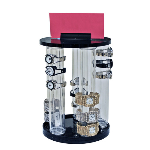 """5-Pole Vertical Revolving Counter Bracelet Display. Overall Size: 13.875""""H x 9""""Dia."""