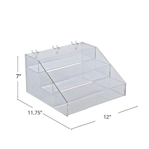 """Three-Tier Step Display: 12""""W x 11.75""""D x 7""""H"""