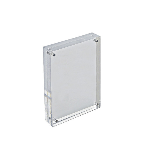 """Clear Acrylic Magnetic Photo Frame Block  5"""" x 7"""" Vertical/Horizontal"""
